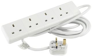 4 SOCKET EXTENSION LEAD 13 AMP WITH 5M CABLE