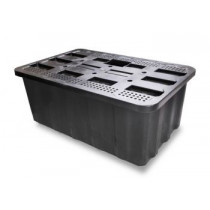 SQUARE RESERVOIR 300l inc lid and tab