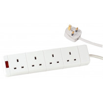 4 SOCKET EXTENSION LEAD 13AMP WITH 2M CABLE