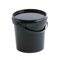 21 LITRE BLACK BUCKET WITH LID