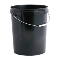 25 LITRE BLACK BUCKET WITH LID
