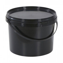 10 LITRE BLACK BUCKET WITH LID