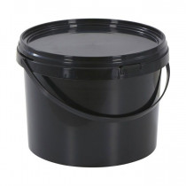 11 LITRE BLACK BUCKET WITH LID